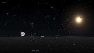 stellar sky map